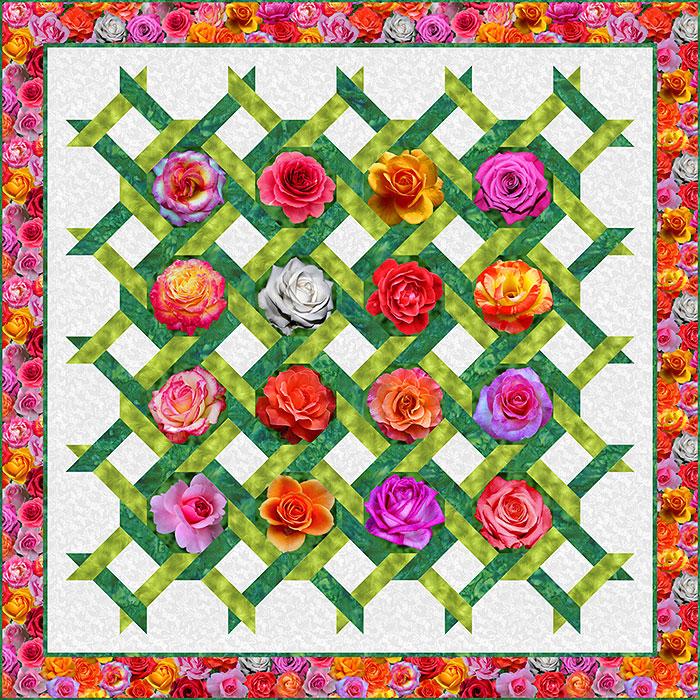 Free Pattern Rose Trellis EQuilter Blog Classy Rose Quilt Pattern