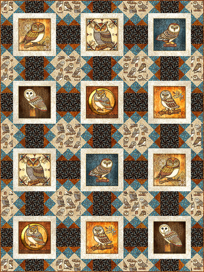 Free Pattern - Where the Wise Things Are - eQuilter
