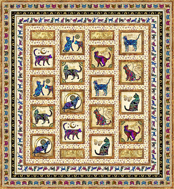 Free Quilt Patterns - Heavenly Cats - eQuilter BlogeQuilter Blog