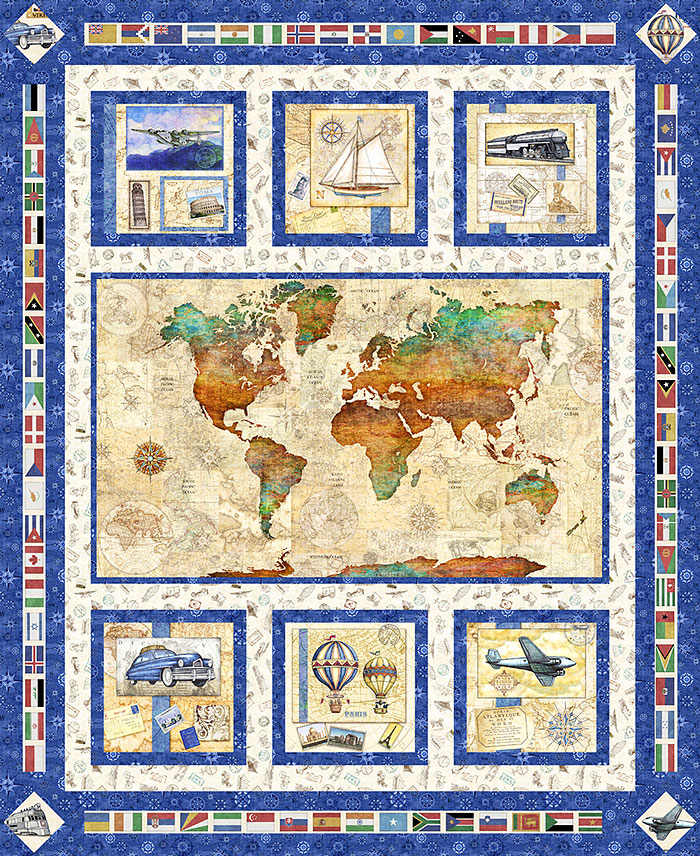 World Map Quilt Pattern.Free Pattern World Traveler Equilter Blog