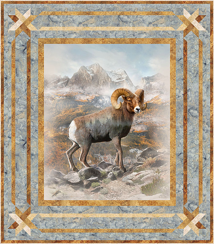 Free Equilter Pattern Call Of The Wild Bighorn