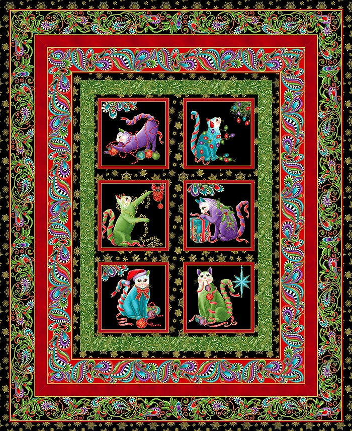 Free Pattern Catitude Christmas Equilter Blogequilter Blog