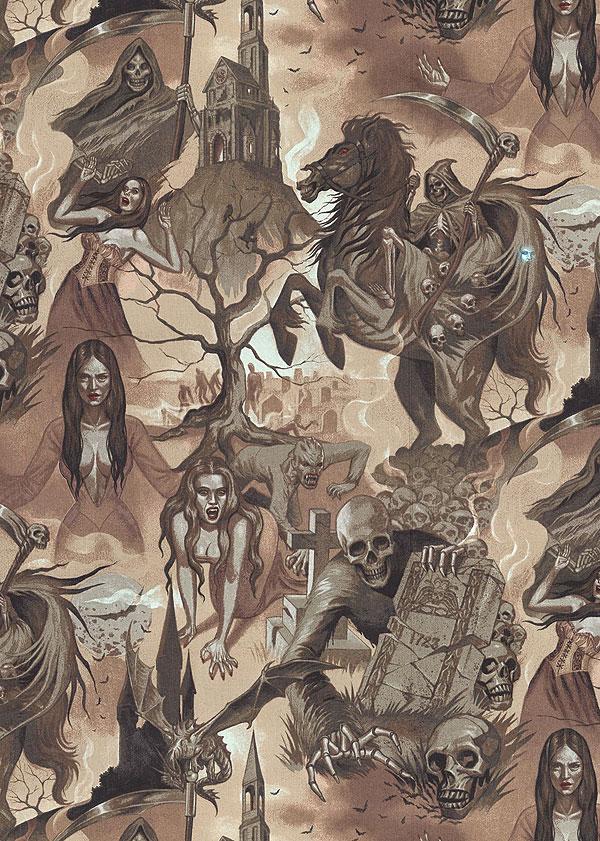 Haunted House - Midnight Shadows - Walnut Brown