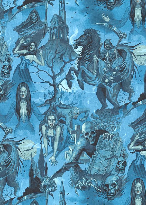 Haunted House - Midnight Shadows - Steel Blue