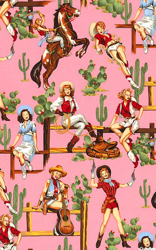 Pinup Cowgirls - Pink