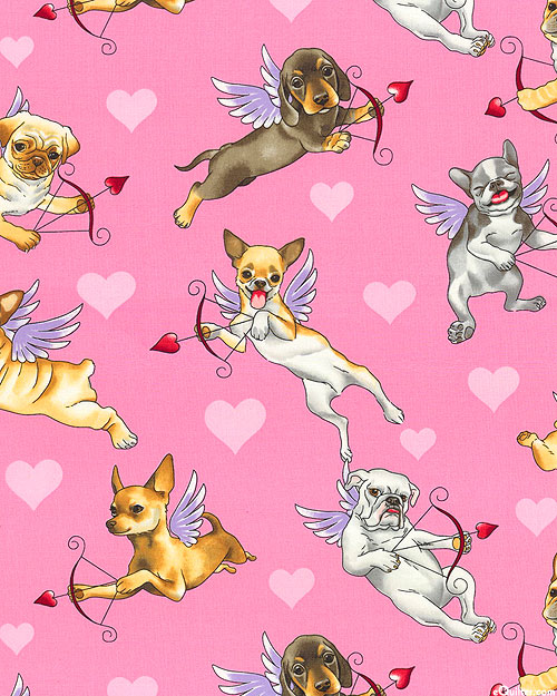 Nicole's Prints - Puppy Love - Candy Pink