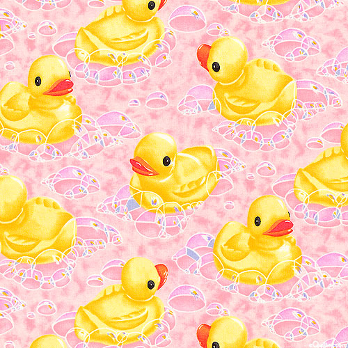 My Rubber Ducky - Pastel Pink - FLANNEL