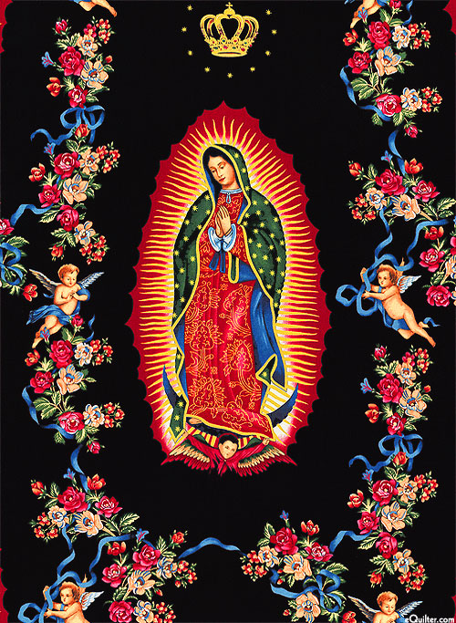 Folklorico - Virgin of the Guadalupe - Black/Gold