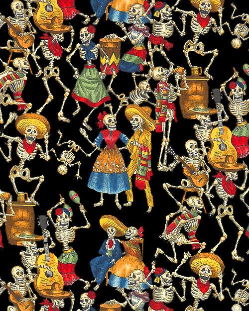 Folklorico - Fiesta De Los Muertos - Black