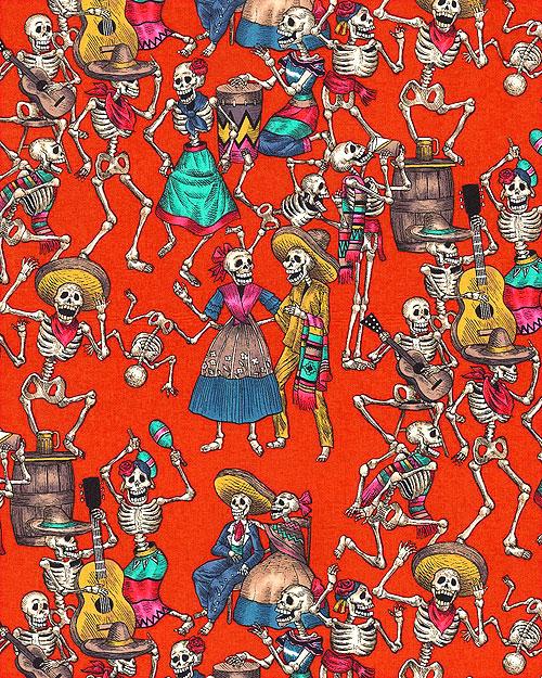 Folkorico - Fiesta De Los Muertos - Scarlet Red