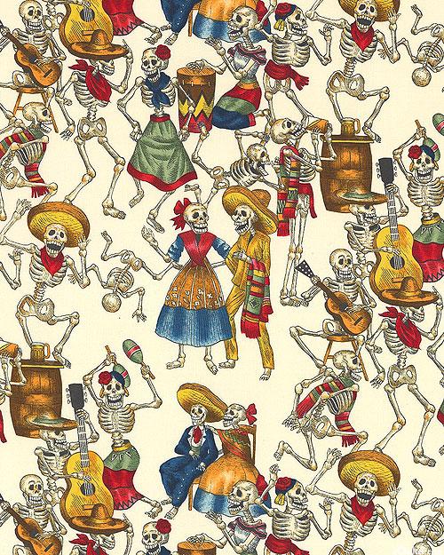 Folkorico - Fiesta De Los Muertos - White