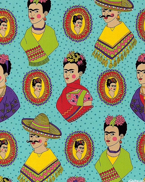 Frida Fantastico - Woman of Courage - Dusty Turquoise