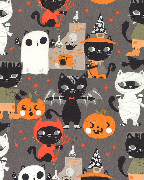 Haunted House - Costume Kitty - Charcoal Gray