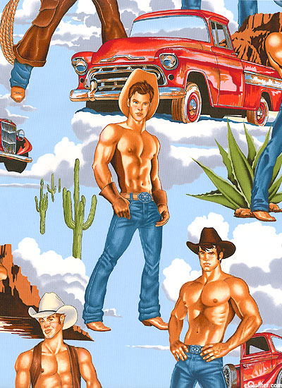 Equilter Cowboy Hunks Bright