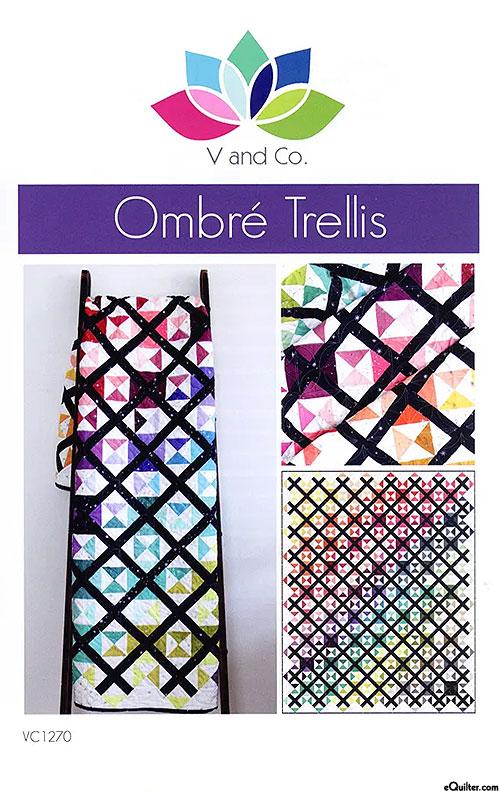 V & Co - Ombre Trellis Quilt Pattern