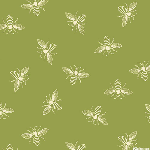French Bee - Moss Green