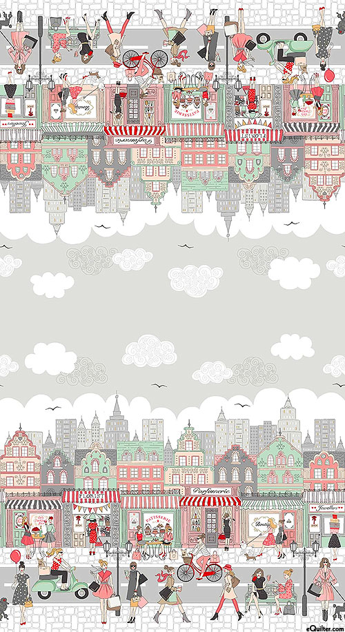 Pamper - Afternoon in the City Border - Pewter Gray/Gold
