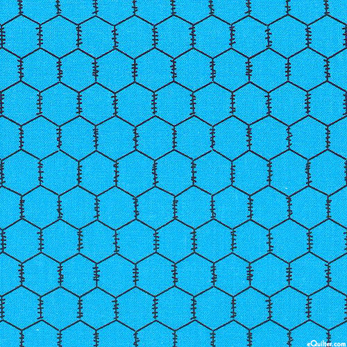 The Cool - Chicken Wire Hexes - Bright Sky Blue