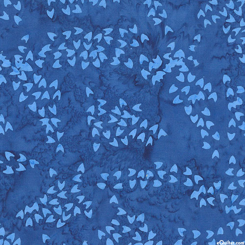 Art Inspired - Childe Hassam's Isle of Shoals Batik - Royal Blue