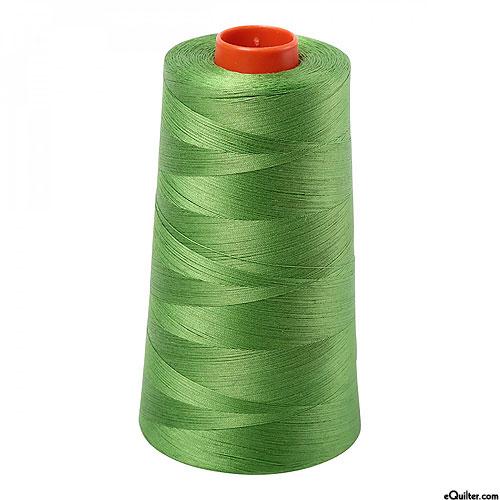Green - AURIFIL Cotton Thread CONE - Solid 50 Wt - Grass Green