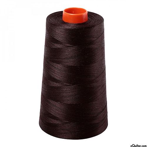 Brown - AURIFIL Cotton Thread CONE - Solid 50 Wt - Very Dk Brown