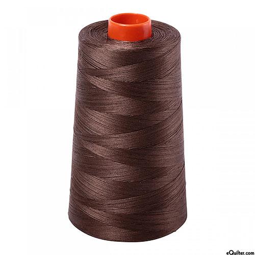 Brown - AURIFIL Cotton Thread CONE - Solid 50 Wt - Bark Brown