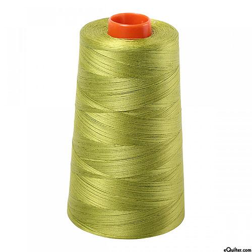 Green - AURIFIL Cotton Thread CONE - Solid 50 Wt - Lt Leaf Green