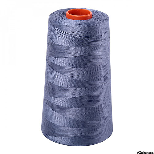 Blue - AURIFIL Cotton Thread CONE - Solid 50 Wt - Storm Cloud