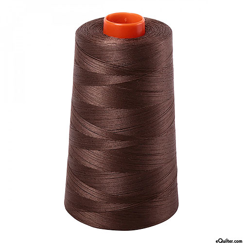 Brown - AURIFIL Cotton Thread CONE - Solid 50 Wt - Medium Bark