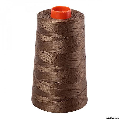 Brown - AURIFIL Cotton Thread CONE - Solid 50 Wt - Dk Sandstone