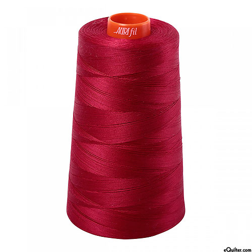 Burgundy - AURIFIL Cotton Thread CONE - Solid 50 Wt - Red Wine