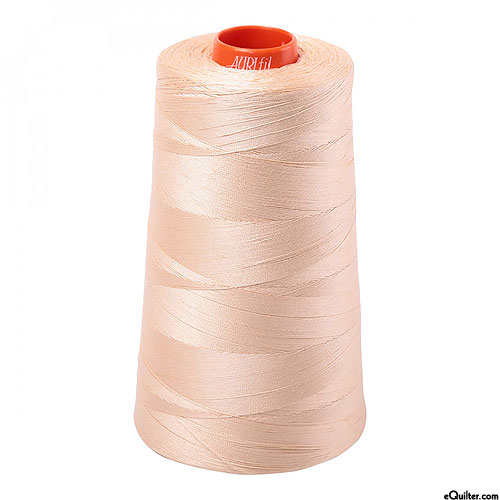 Beige - AURIFIL Cotton Thread CONE - Solid 50 Wt - Nude