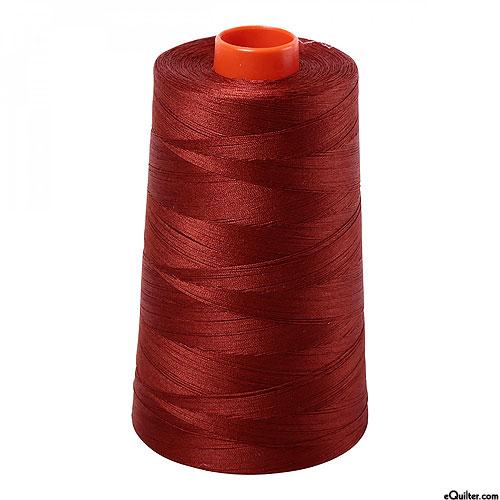 Brown - AURIFIL Cotton Thread CONE - Solid 50 Wt - Dk Rust