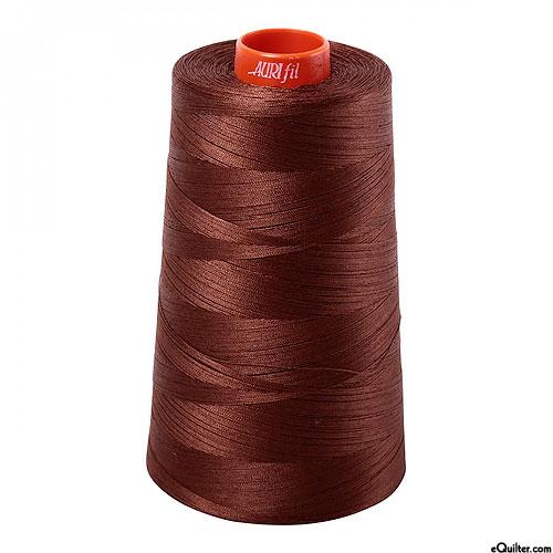 Brown - AURIFIL Cotton Thread CONE - Solid 50 Wt - Chocolate
