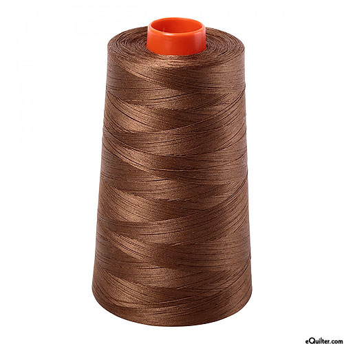 Brown - AURIFIL Cotton Thread CONE - Solid 50 Wt - Dk Gold