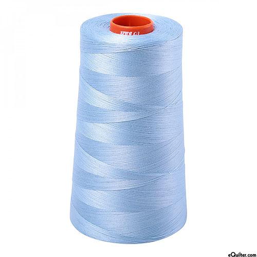 Blue - AURIFIL Cotton Thread CONE - Solid 50 Wt - Robins Egg