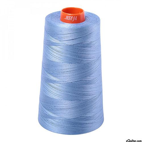 Blue - AURIFIL Cotton Thread CONE - Solid 50 Wt - Lt Delft Blue