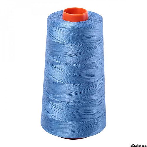 Blue - AURIFIL Cotton Thread CONE - Solid 50 Wt - Lt Wedgwood
