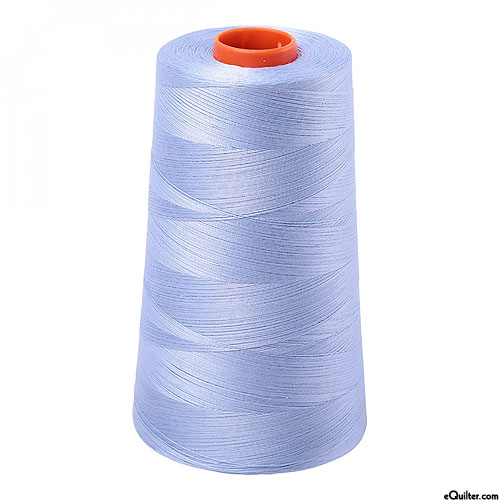 Blue - AURIFIL Cotton Thread CONE - Solid 50 Wt - Very Lt Delft