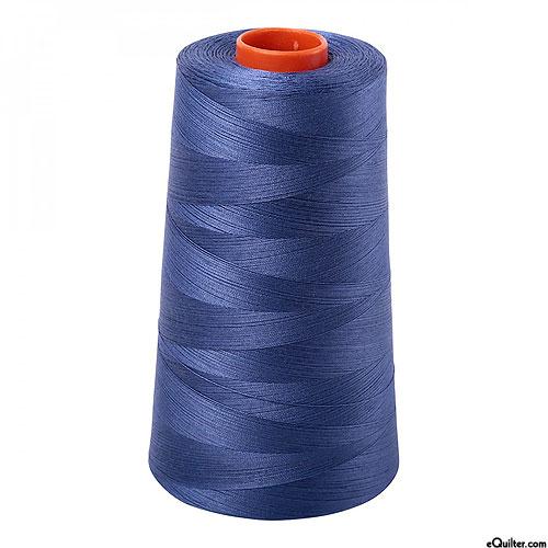 Blue - AURIFIL Cotton Thread CONE - Solid 50 Wt - Steel