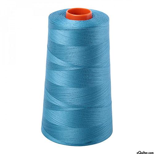 Blue - AURIFIL Cotton Thread CONE - Solid 50 Wt - Teal Lagoon