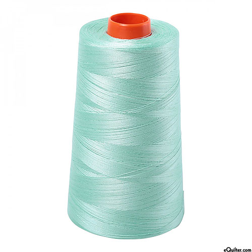 Green - AURIFIL Cotton Thread CONE - Solid 50 Wt - Mint