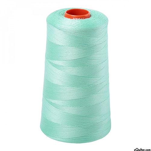 Green - AURIFIL Cotton Thread CONE - Solid 50 Wt - Cool Mint