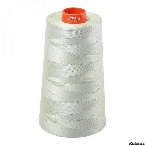 Green - AURIFIL Cotton Thread CONE - Solid 50 Wt - Pale Sage