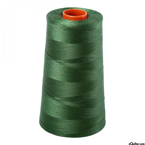 Green - AURIFIL Cotton Thread CONE - Solid 50 Wt - Kelly