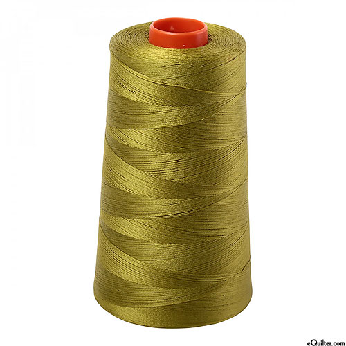 Green - AURIFIL Cotton Thread CONE - Solid 50 Wt - Md Olive