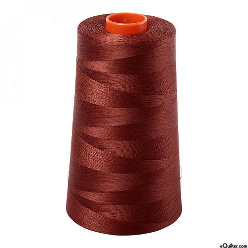 Brown - AURIFIL Cotton Thread CONE - Solid 50 Wt - Copper Brown