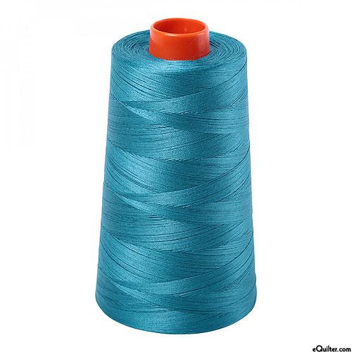 Blue - AURIFIL Cotton Thread CONE - Solid 50 Wt - Dk Turquoise