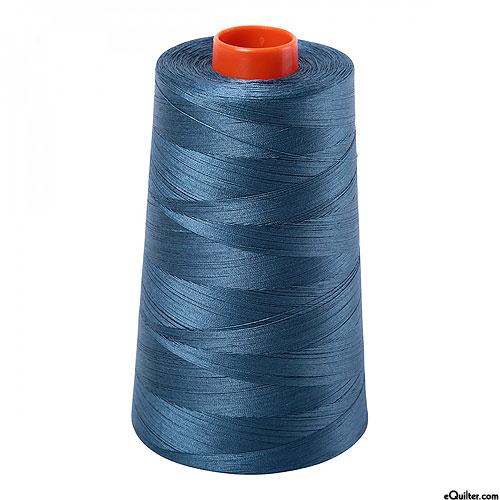 Blue - AURIFIL Cotton Thread CONE - Solid 50 Wt - Smoke Blue