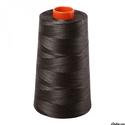 Green - AURIFIL Cotton Thread CONE - Solid 50 Wt - Peat Moss